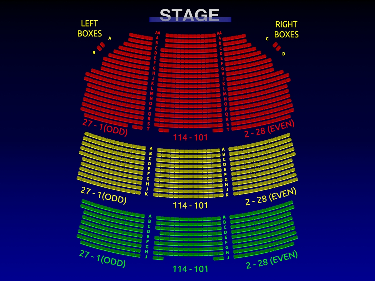 Theatre Seating Map